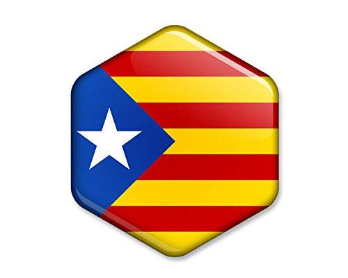 artyhills Cataluña independencia bandera–Set de 4hexagonal imanes Catalunya Senyera Estelada blava Lone Star