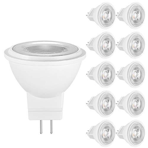 MR16 GU5.3 LED-Scheinwerferblubs, nicht dimmbar, 500Lm, 5W Entspricht 50W Halogenlampen, AC/DC 12V, 6500K kaltes weißes Licht, ideal für den Heimgebrauch - 10 Stück