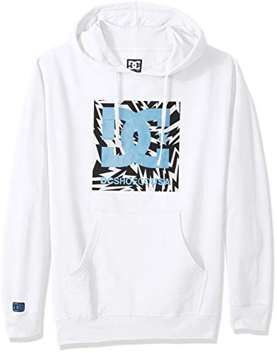 DC Apparel Herren Ken Block Founders Series Pullover Sweatshirt Hoodie Kapuzenpulli, White Kb Lightning Square Ph, Small