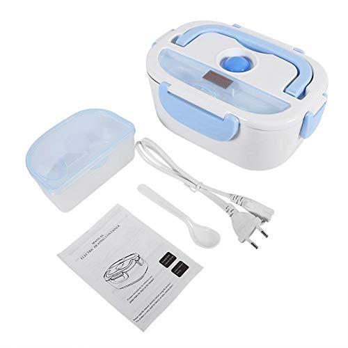 Lunch Box 1.5l Scaldavivande Elettrico Portatile Riscaldatore Bento Box Contenitore Per Alimenti In Acciaio Inossidabile Per Home Office School(EU Plug-Blu)