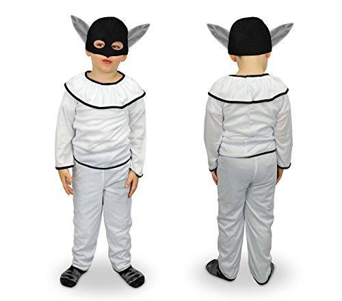 MEDIA WAVE store 537363 Costume Carnevale Travestimento Pulcinella Bambino da 6 a 8 Anni