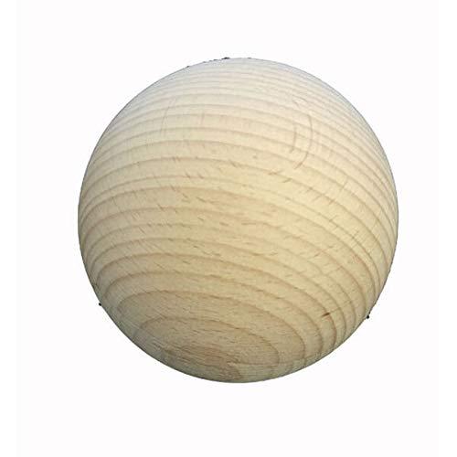 Bola de madera redonda de 30 mm de diámetro, sin perforación, 48 unidades