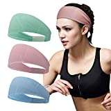 Linlook Sport Stirnband für Damen - Elastisch Schweißband Schnell Trocknend Haarband für Laufen, Tennis Laufen, Yoga, Basketball, Fußball, Radfahren, Fitness