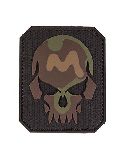 Mil-Tec Patch 3D Skull PVC m. Klett Large tarn