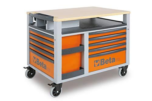 Beta C28-O Carrello SuperTank Porta Utensili e Porta Attrezzi con Piano di Lavoro e 10 Cassetti