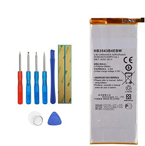 Upplus HB3543B4EBW Batería de repuesto compatible para Huawei Ascend P7 L09 L00 L10 L05 L11 con kit de herramientas