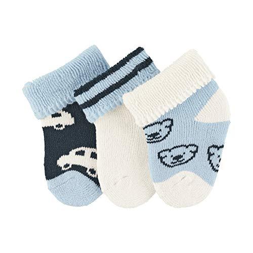 Sterntaler Baby-Jungen Socken Erstlingssöck. Auto, 3er-Pack Elfenbein (Ecru 903) Neugeboren (Herstellergröße: 0)