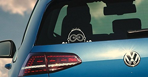 Minion Aufkleber JDM Style Sticker OEM Tuning Decal Fun Stickerbomb Minions WEIß
