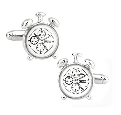 Gemelos de moda con diseño de ancla deportiva, de latón, de material de regalo para marineros (color metálico: reloj)