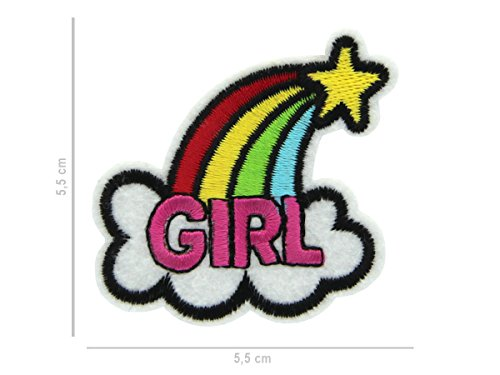 Alsino patches om op te strijken patch patch jack shirt broek patches set Eén maat Pat-104 Rainbow Girl