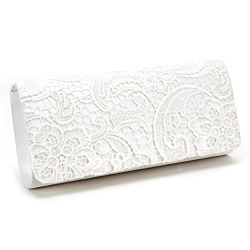 D Fashion, Pochette femme - Blanc - Weiß,
