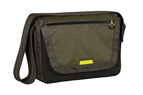 LÄSSIG Baby Wickeltasche Babytasche Sportliche Umhängetasche inkl. Wickelzubehör/Casual Sporty Messenger Bag, olive