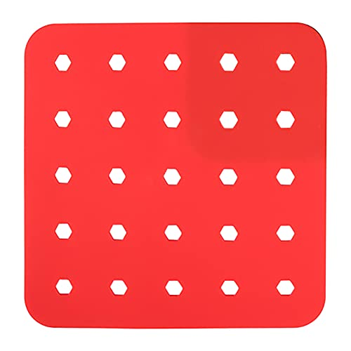 Boshivw Pressure Cooker Kitchen for Air Fryer Liners Reusable All Seasons Silica Gel Kitchen Outdoor Kitchen Air Fryer Pad (Red)