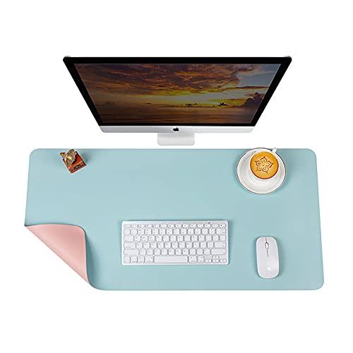 Alfombrilla de escritorio de doble cara, impermeable, alfombrilla de ratón de piel sintética, protector de escritorio para computadora portátil, cubierta de escritorio para niños en casa y oficina