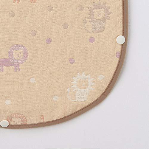 [ベルメゾン]スリーパー6重ガーゼ日本製綿100%ベビー用スリーパーライオンアイボリーM(~90)