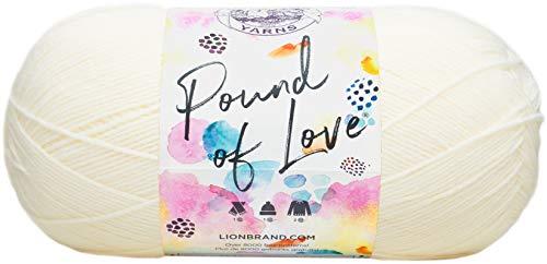 Lion Brand Yarn 550-099B Pound of Love Yarn, One Size, Antique White