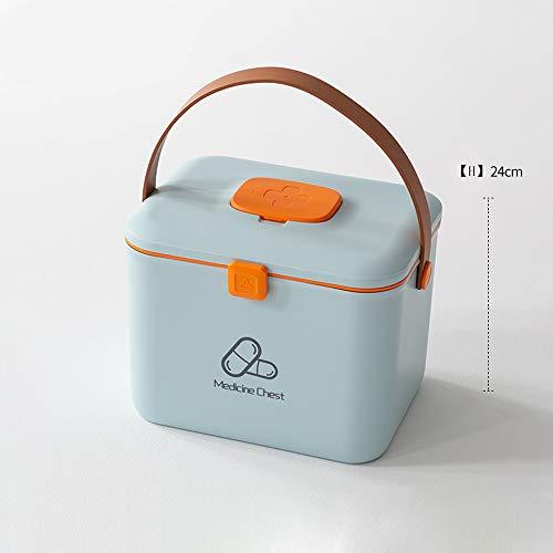 zhangcheng Kit de Primeros Auxilios Pequeño botiquín Caja médica Caja médica estética Caja de Almacenamiento de Medicina portátil de la Escuela Usado en Casas,oficinas,automóviles