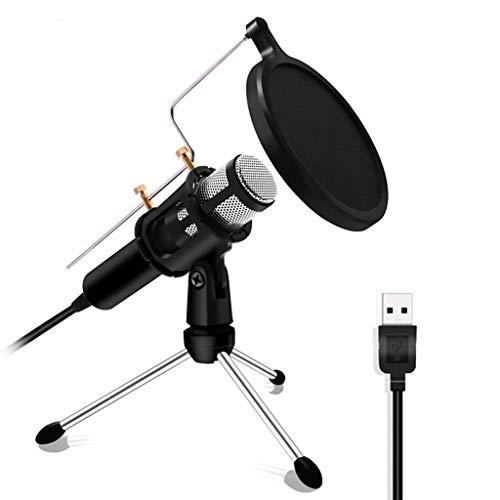 TWDYC Micrófono Profesional Condensador para computadora portátil PC USB Plug Sky Studio Podcasting Grabación de Karaoke Mic