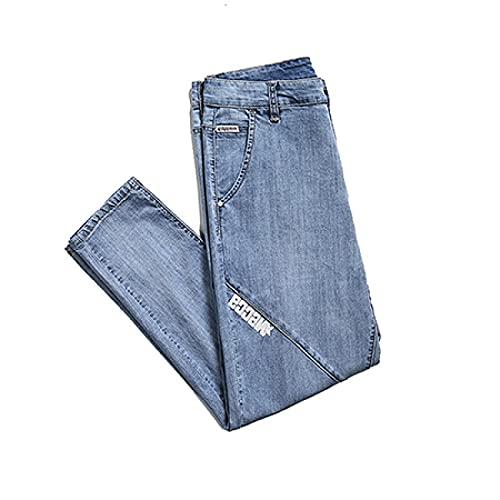 Jeans Mens Jeans Plus Size Pure Color Straight Denim Pencil Pants Male Large Jeans Men Jeans Homme 30 Jn105