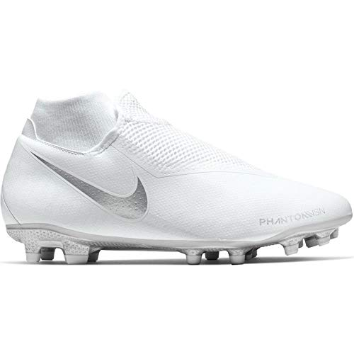 Nike Phantom VSN Academy DF FG/MG Football Boot White/Chrome Continuativa 44,5 White/Chrome