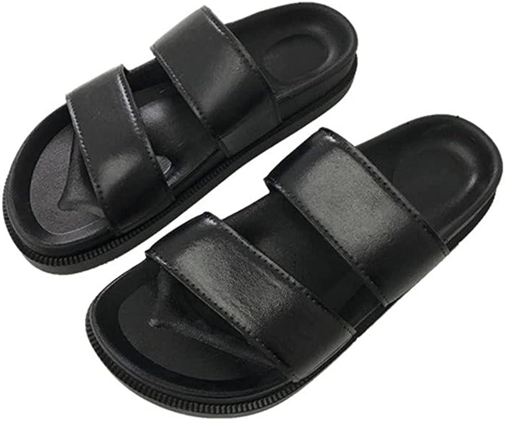 MH Bailment Two Bands Slides Sandals for Women Summer Soft Slip On Casual Flip-Flops Open Toe Slippers Outdoor