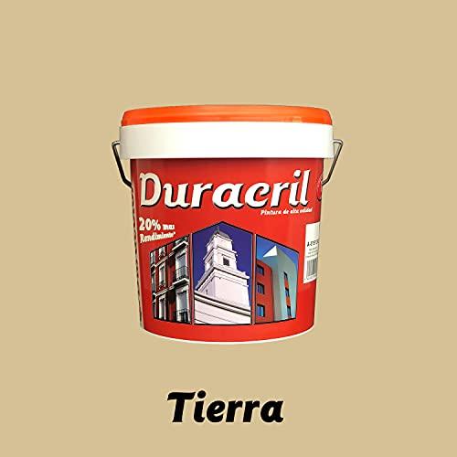 Pintura para fachadas exterior de alta gama y textura lisa en colores - Duracril Liso Duracolor (12 litros, Tierra)