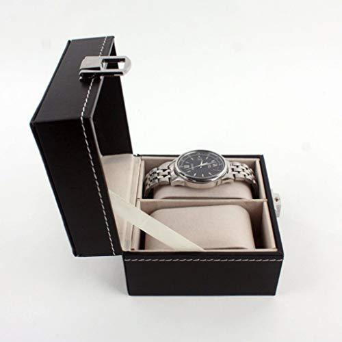 HeziCat 1/2/3 Slot Leather Watch Box Display Case Organizer Glass Jewelry Storage Black Watch Box Cherry Watch Display Case Storage Organizer