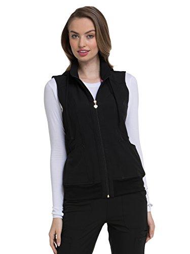HeartSoul Break On Through Zip Front Vest, HS500, S, Black