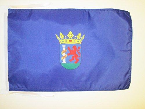 AZ FLAG Bandera de la Provincia DE BADAJOZ 45x30cm - BANDERINA BADAJOZ ENExtremadura 30 x 45 cm cordeles