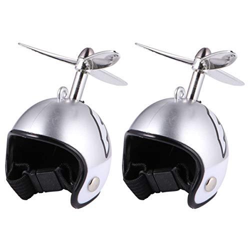 ibasenice 2 Piezas Casco de Pollo para Mascotas Sombrero de Pollo Juguete Disfraces de Pollo Accesorios para Pollitos Gallinas Mascota Pájaro Loro Sombrero Sombreros