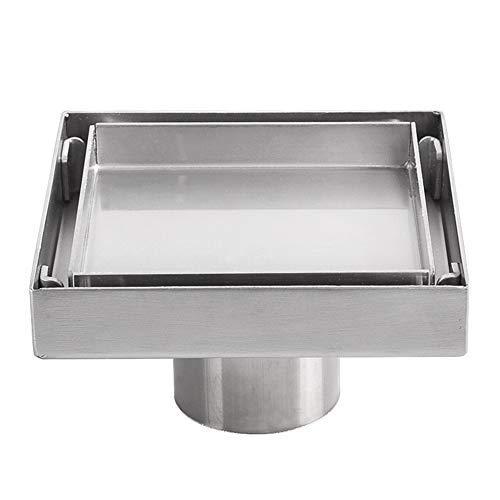 DIYARTS Deodorante Invisibile per Drenaggio del Pavimento della Doccia Filtro per Capelli in Acciaio Inossidabile 304 Ispessito per Bagno Cucina del Bagno Doccia Dell'hotel (10cm Copper Self-Styled)