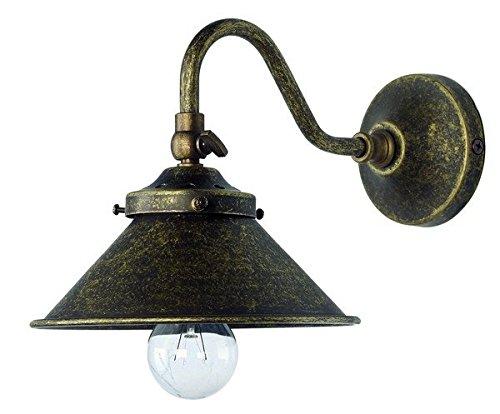 Aplique lámpara de pared de latón bruñido Parabola cono interior exterior