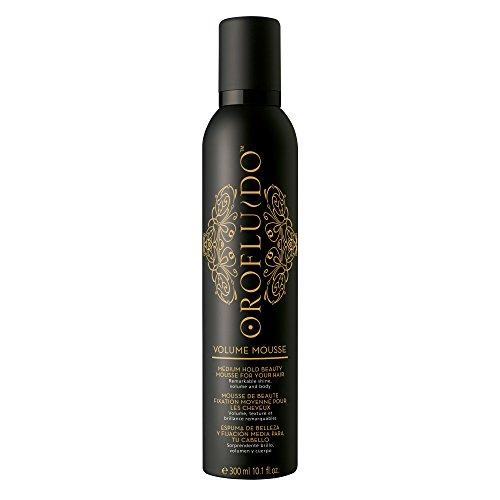 OROFLUIDO Mousse Volume Brillance Huile d'Argan pour Cheveux Ternes Fixation Moyenne, 300ml