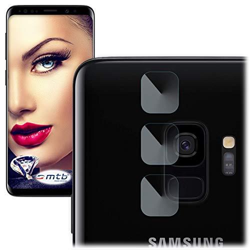 mtb more energy® 3X Kamera-Schutz-Glas für Samsung Galaxy S9 (G960) - Schutz-Folie Glasfolie Rückseiten-Cam Linse Back