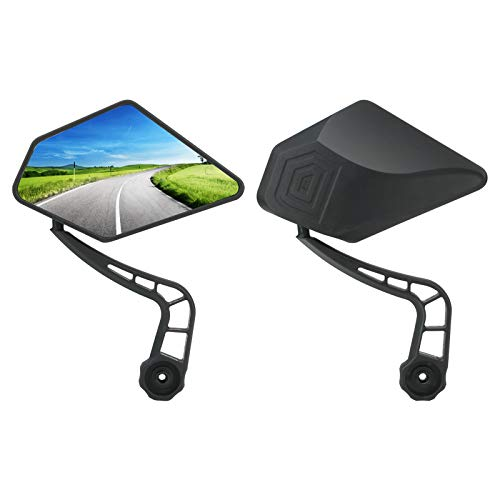 Bar End Bike Mirrors Upkey 360° Adjustable Rotatable Bicycle Rearview Mirrors Bicycle Handlebar Mirror with Glass Lens Bicycle Cycling Rear View Mirrors Cycling Accessories for Mountain Road Bike 2pcs