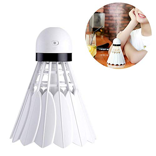 XJ0526 Mini Humidifier,Air Atomizer,Polymer Water Mist+Mute+Warm Light Night Light,Prevent Dry Burning Protection,Best for Small Guest Room,Car,240Ml,White