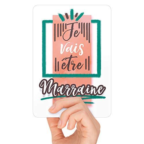 Carte Annonce Grossesse - Je vais être Marraine - Une jolie photo pour une belle Surprise à la Future Marraine