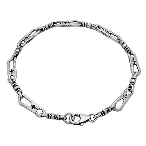 Fisher Of Men Bracelet Sterling Silver 925 Fisherman Link Chain Inspirational Card Gift - Bracelet - 7.5 Inch