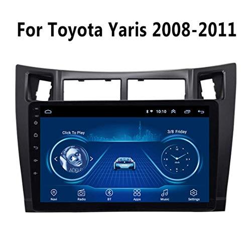 GPS-Navigation, 9 Zoll Android 8.1 Autoradio Video Multimedia Player für Toyota Yaris 2008-2011 Mit HD-Bildschirm, Play Store, WiFi,WiFi 1g+16g