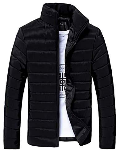 (ナガポ)NAGAPO メンズ ライト ダウン ジャケット 9色 あったか 軽量 大きいサイズ ジャンパー 通勤 防寒 (M, ブラック)