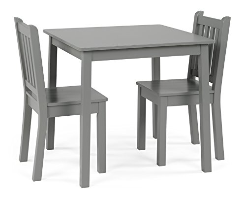Humble Crew Kids Wood Table & 2 Chairs Set 23