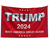 Trump 2024 flag, Make America Great Again, Donald Trump flags for room, garden decoration banner,3x5 Ft outdoor (red)