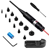 Ebeet Laser Bore Sight Kit Multiple Caliber .17 .22 to 12GA Caliber Rifle Gauge Boresight Red Dot Laser Boresighter Bore Sighter with 12 Adapters Battery Charger for Competition Shooting Hunting