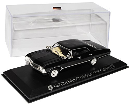 Greenlight Chevrolet Impala Sport Sedan Limousine Schwarz Supernatural Join The Hunt 1965-1970 1/43 Modell Auto