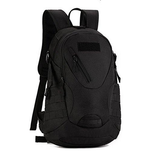 YAAGLE 20 L militärisch klein Gepäck Rucksack Outdoor Reisetasche Fahrradrucksack Schultertasche Schüler Schultasche-schwarz