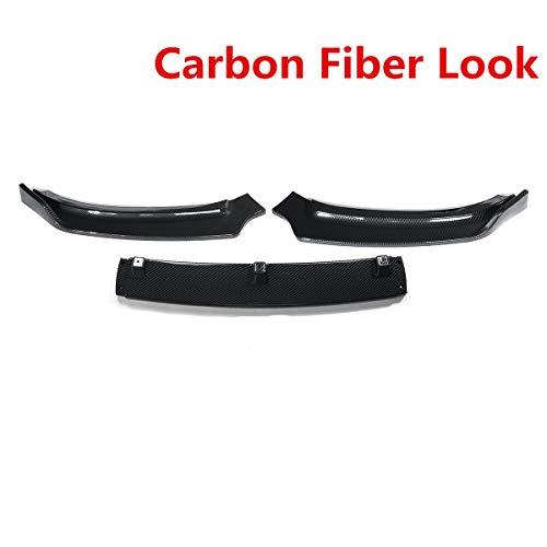 QIUXIANG 3X Coche Delantero Lip Barmer Spoiler Spoiler Spoitter Kit de Cuerpo Difusor Protector Desmontable para Audi A4 B8.5 2014 2015 2015 2016 (Color : Carbon Fiber Look)