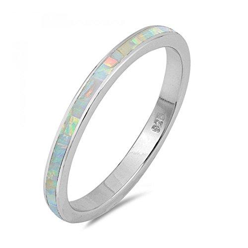 Sterlingsilber Lab Opal Edelstein-Ring