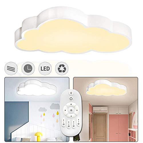 LZQ 48W LED Deckenlampe Kinderzimmer Dimmbar Wolken Deckenleuchte Wohnzimmerleuchten Schlafzimmer Wolke Lampe mit Fernbedienung