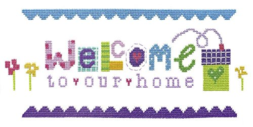 The Stitching Shed Welcome Cross Stitch Kit