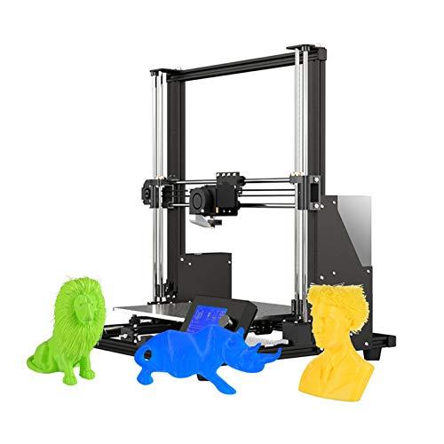 Kshzmoto A8 Plus Verbesserte Hochpräzise DIY 3D Drucker Selbstmontage 300 * 300 * 350mm Große Druckgröße Aluminiumlegierung Rahmen Bewegliches LCD-Bedienfeld Überstromschutz Mainboard
